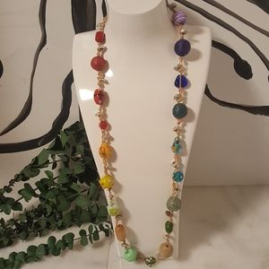 Chico's Long Rainbow Necklace